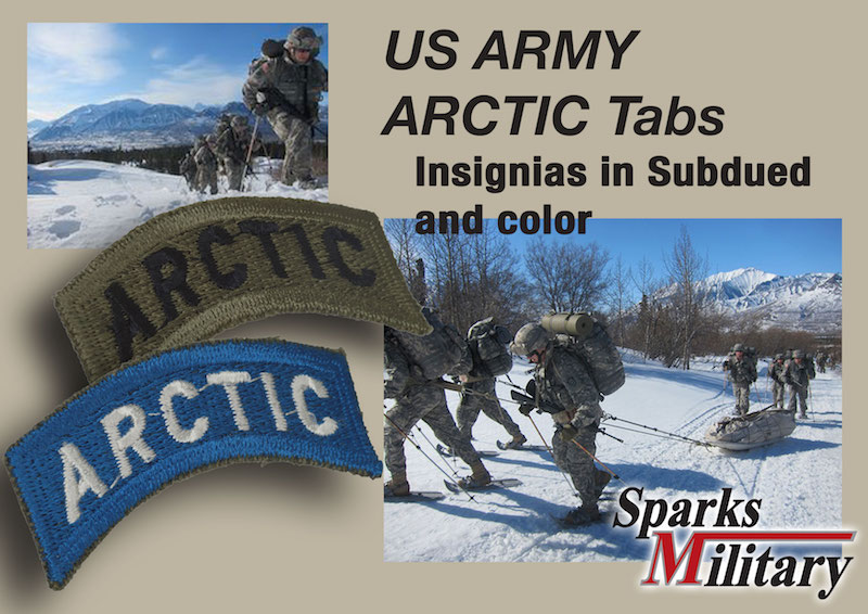 US Army ARCTIC Shoulder Tab Insignia