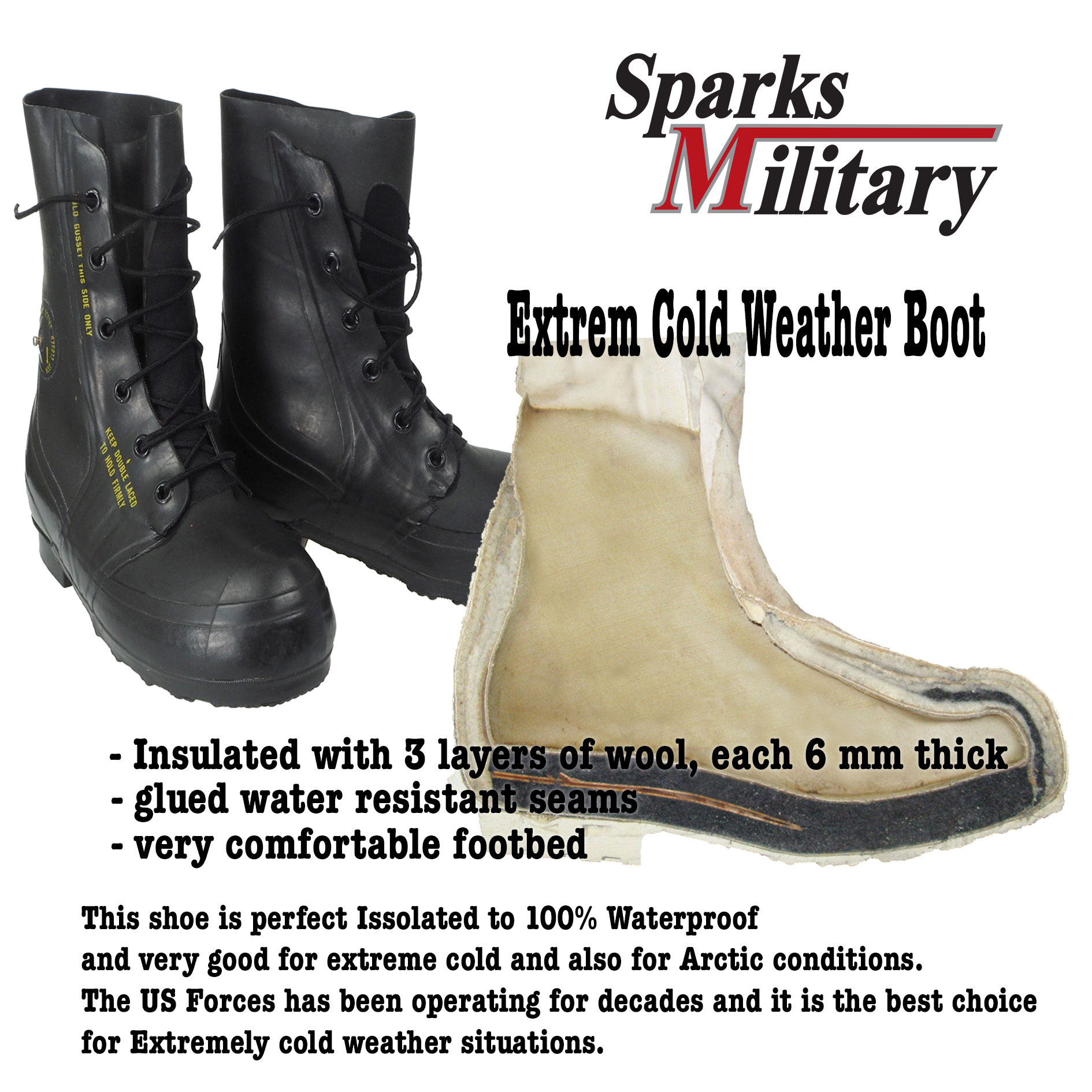 cb9ea56c91a Extreme Cold Weather Boot, Mickey Mouse Boots buy at sparks military